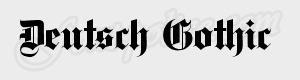 gothique Deutsch Gothic ttf