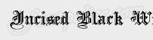 gothique Incised Black Wide ttf