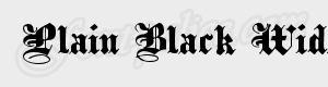 gothique Plain Black Wide ttf
