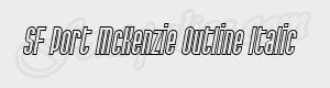 haute SF Port McKenzie Outline Italic ttf