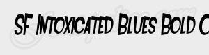 penche SF Intoxicated Blues Bold Oblique ttf