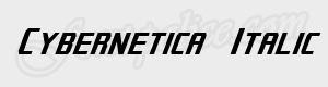 sans serif Cybernetica  Italic ttf