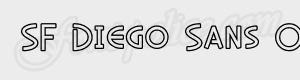 sans serif SF Diego Sans Outline ttf