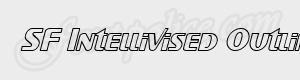 sans serif SF Intellivised Outline Italic ttf
