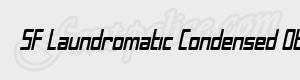 sans serif SF Laundromatic Condensed Oblique ttf
