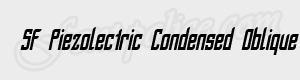 sans serif SF Piezolectric Condensed Oblique ttf