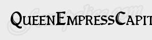 serif QueenEmpressCapitals ttf