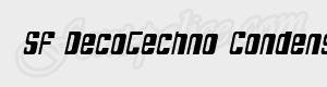 arrondi SF DecoTechno Condensed Oblique ttf