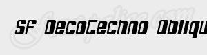 arrondi SF DecoTechno Oblique ttf