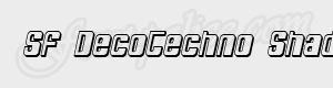 arrondi SF DecoTechno Shaded Oblique ttf