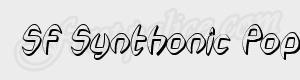 arrondi SF Synthonic Pop Shaded Oblique ttf
