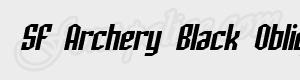 geometrique SF Archery Black Oblique ttf