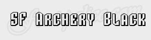 geometrique SF Archery Black SC Shaded ttf