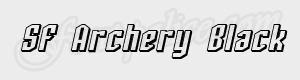 geometrique SF Archery Black Shaded Oblique ttf