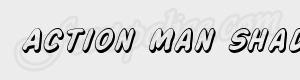 ombre Action Man Shaded Italic ttf