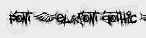 grunge Font (el&font gothic ) ttf