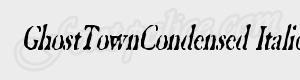 grunge GhostTownCondensed Italic ttf