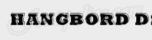 grunge Hangbord DSG ttf