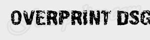 grunge Overprint DSG ttf