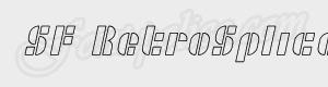 morceaux SF RetroSplice Outline ttf